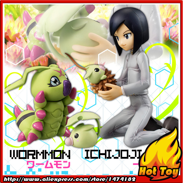 100% Original MegaHouse G.E.M. Complete Figure 02 - Ken Ichijozi & Wormmon from Digimon Adventure 100% original megahouse g e m remix complete figure uzumaki naruto