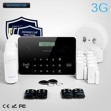 HOMSECUR Wireless&Wired LCD 3G/WCDMA RFID Burglar Intruder Alarm System  LC03-3G