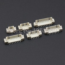 10PCS 1.25mm Connector SMD Vertical / Right Angle Type Male JST Socket 2/3/4/5/6/7/8/9/10/11/12/13/14P 1.25-AB(China)