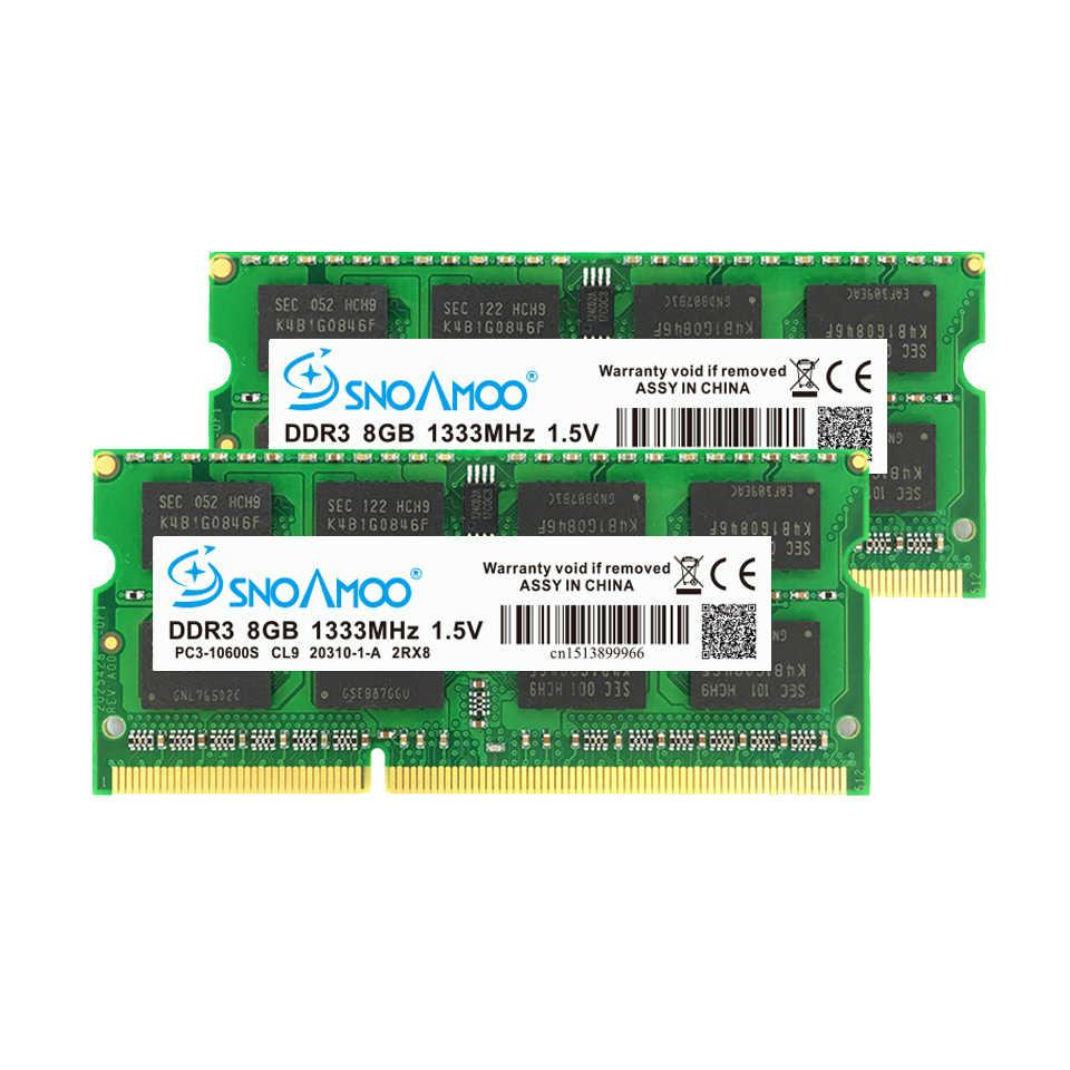 Оперативная память SNOAMOO DDR3 8 ГБ, 1333/1600 МГц, память для ноутбука, память для компьютера, с 204 контактами, 1,5 В, 2Rx8, гарантия на память для компьютера, на 1, 2, 5, 2, 4, 4, 4, 4, 4, 4, 4, 4, 4, 4, 4, 4