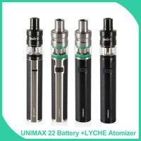 Big Sale!! 100% Original Joyetech Unimax 22 Bateria 2200 mah + Lyche Eleaf Starter Kit Atomizador 4 ml Capacidade eletrônico caneta vape