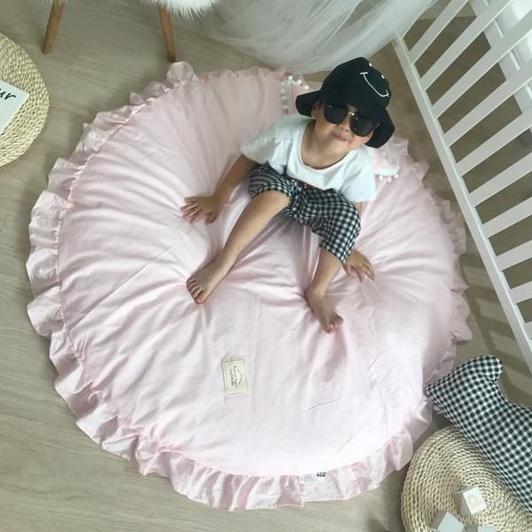 120 cm taille Cutton enfants jouer tapis de jeu bébé tapis plancher coton tapis ramper Tapete Para Bebe tapis dans la pépinière enfant jouer tapis