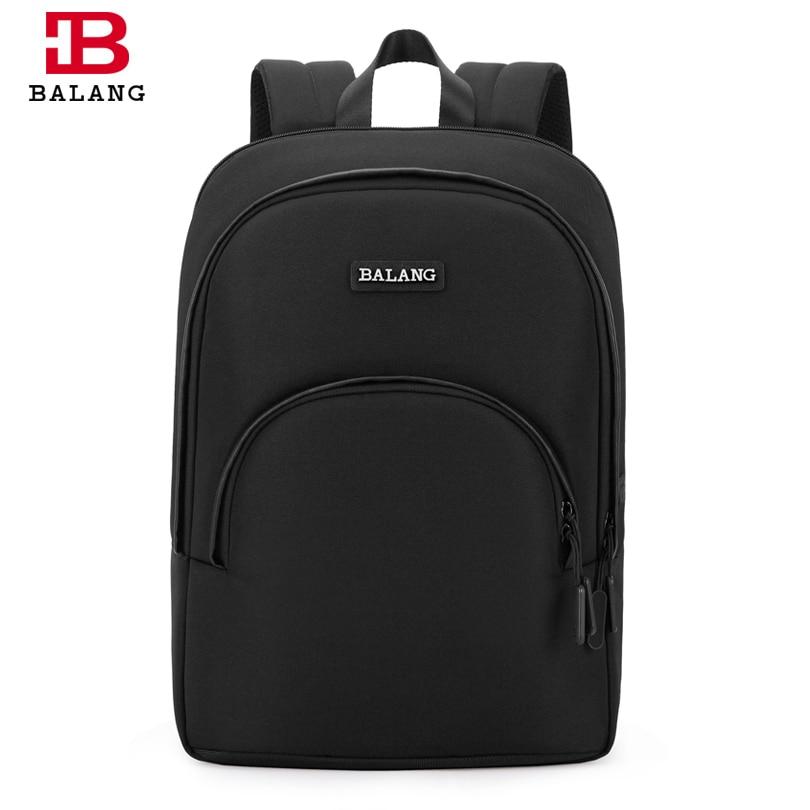 BALANG Brand Men Laptop Backpacks for 14 5 inch Multifunction USB charging School Bags Waterproof Leisure
