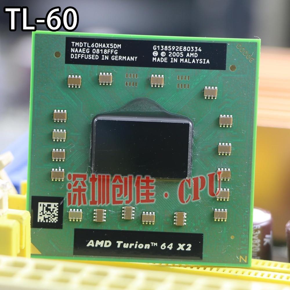 Original cpu AMD Turion TL-60 CPU 1 M Cache/2,0 GHz/Socket S1/Dual-Core procesador portátil tl60 TL 60