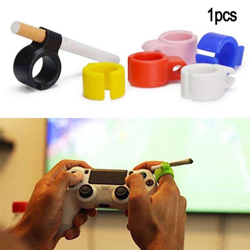 Silicone Ring Finger Hand Rack Cigarette Holder For Regular Smoking Smoker Safely Hold Your Cigarette 1201