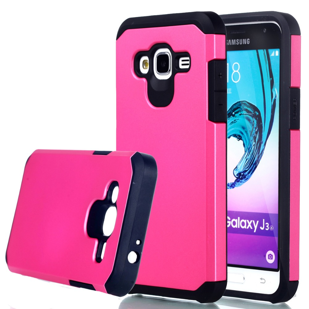 Hybrid Dual Heavy Duty Armor Case Cover for Sumsung Galaxy J1 J3 J7 A5 2016 J120 J310 J710 A510 On5 G5500 Back Cover Phone Cases
