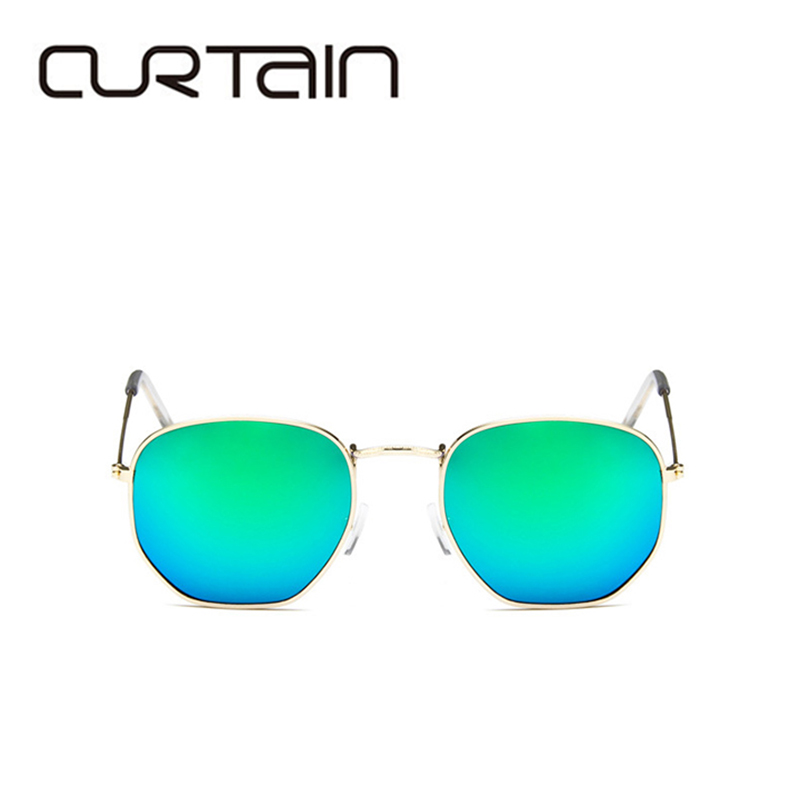 2019 Sunglasses Men Women Mirror Luxury Fashion Brand Designer Vintage Hexagon Sun Glasses Uv400 Round Sunglass Oculos De Sol in Women 39 s Sunglasses from Apparel Accessories