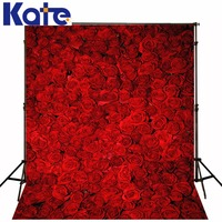 Kate Red Roses Wedding Photography Backgrounds Customize Flowers Backdrops Wedding of Valentine for Children Photo Studio