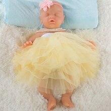 IVITA 18 pouces/3 kg Fille Yeux Fermé Haute Qualité Silicone Poupées Reborn Bébé Né Plein Corps En Vie