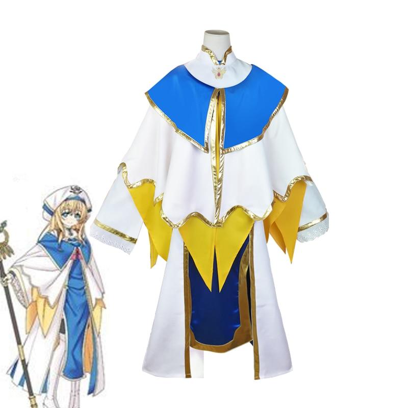 Anime Goblin Slayer Priestess Cosplay Costume Fairy Archer Outwear Dress+Cloak Women Cute Halloween Carnival Uniform Custom Made