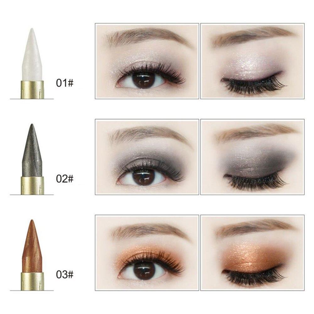 Новинка 2 в 1 тени для век подводка для глаз ручка черная жидкая подводка для глаз Карандаш блеск Тени для век двухсторонний инструмент для макияжа для глаз