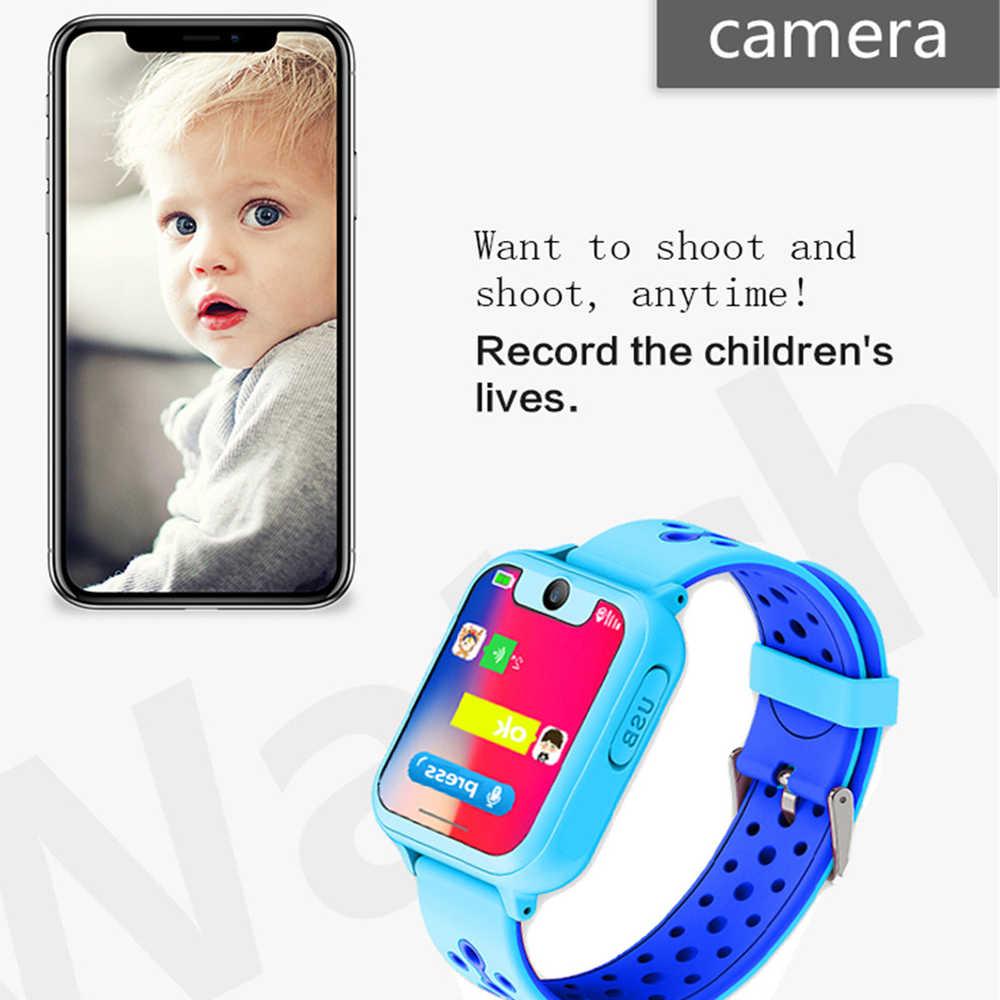 GEJIAN الاطفال الساعات ساعة تعقب SOS دعوة الموقع موقف مصباح يدوي كاميرا الأطفال الساعات مع هدايا الأطفال على مدار الساعة