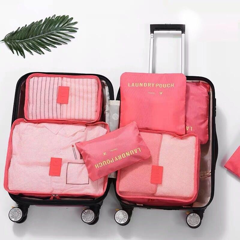 Luggage-Organizer Pouch Storage-Bag Closet Travel-Suitcase Portable for 6PCS