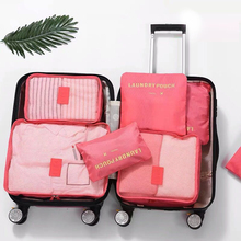 6PCS Travel Storage Bag Set Portable Luggage Organizer For Closet Suitcase Sets Clothes Organizador Pouch