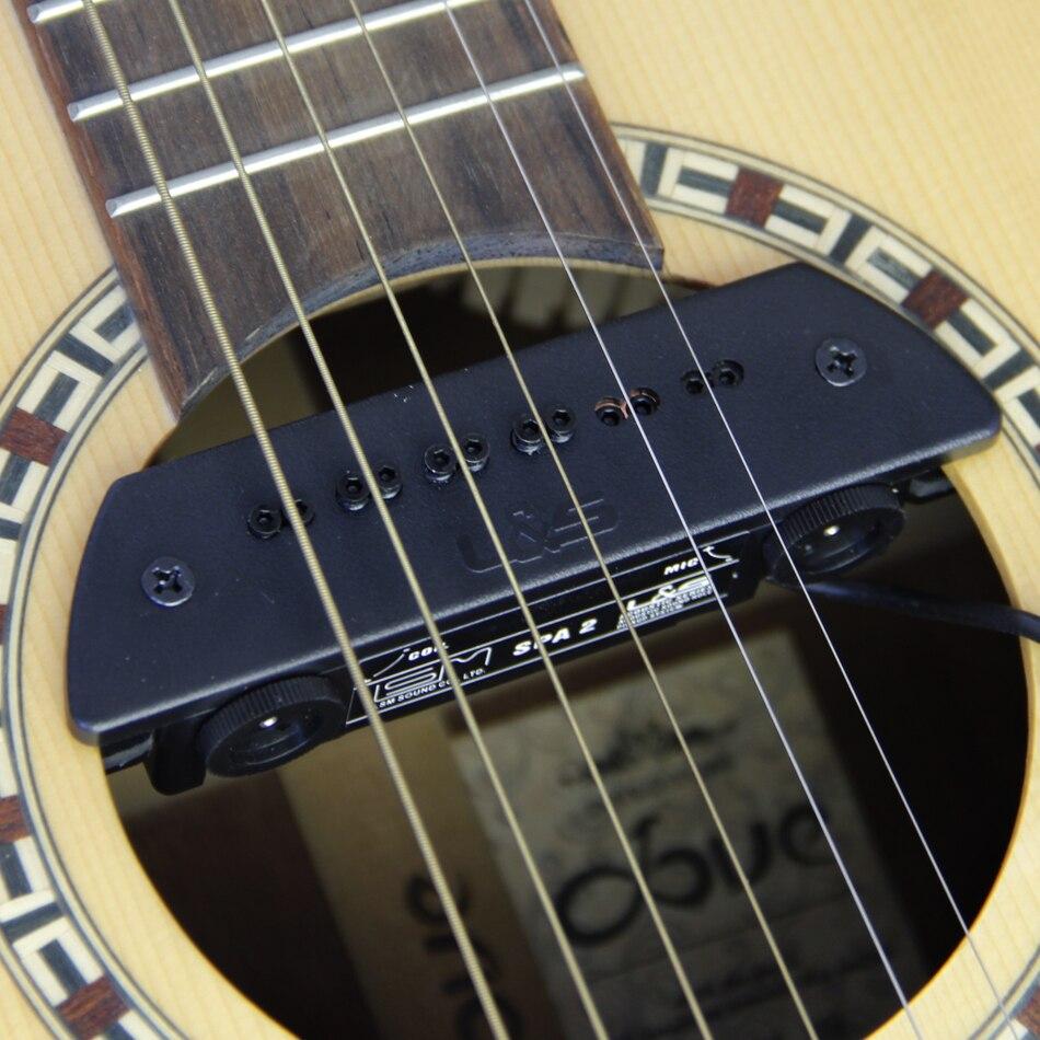 Guitare son trou de ramassage guitare préampli Préampli Système Double ramassage système bobine et micro guitare pick titulaire