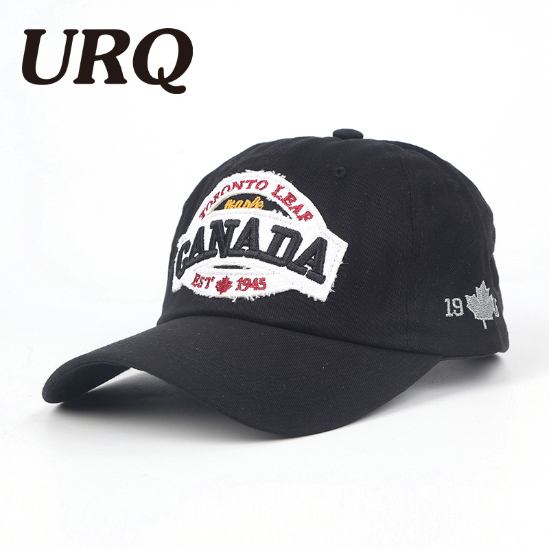 URQ Canada Baseball Caps Emboridery Cotton Gorras Snapback Hats for Man Woman Fashion Unisex Caps Adjustable Hat ZZ4062 парка canada goose 4074m 49