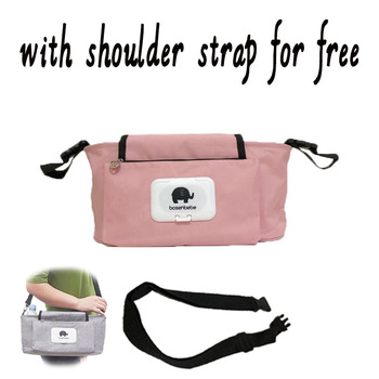 Baby Stroller Organizer Bag Mummy Diaper Bag Hook Baby Carriage Waterproof Large Capacity Stroller Accessories Travel Nappy 1