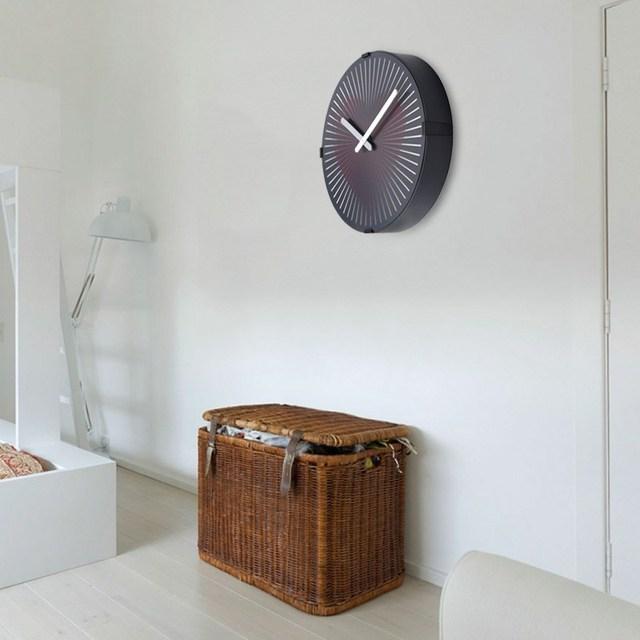 Charminer Red Heart Magical Phantom Clock Dynamic Animation Living Room Wall Clock Plastic+PVC 305 x 55mm
