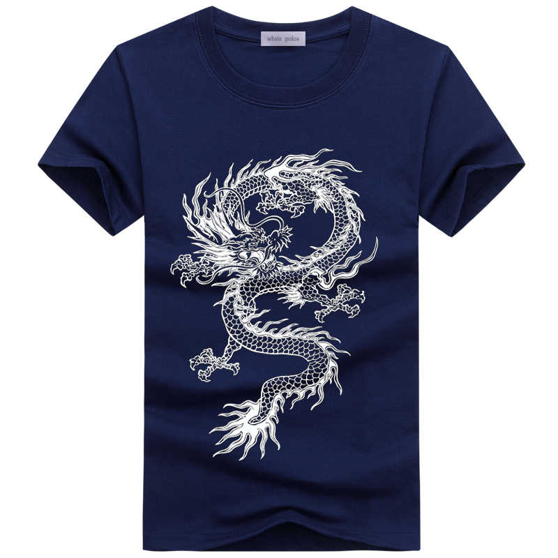 men's T-shirts men's summer O-Neck print dragon cartoon casual short-sleeved funny t shirts brand cotton Tees men t Shirt homme