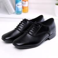 Cowhide Leather Quality Men Boys Latin Ballroom Shoes 2.5cm Low Heel Black Chacha Tango Moderm Dance Shoes Sport Shoes Men