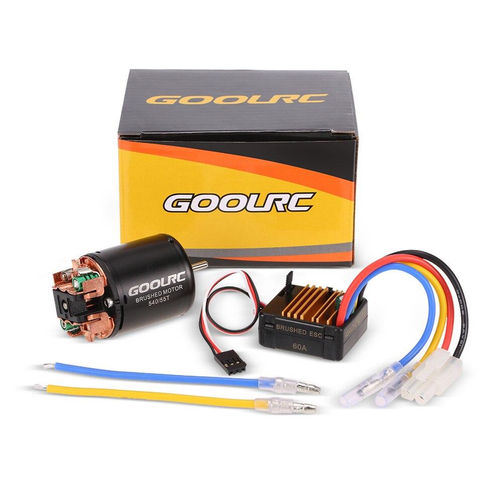 GoolRC 540 55 t cepillado Motor con 60A ESC Combo para 1/10 Axial SCX10 RC4WD D90 RC Crawler coche de