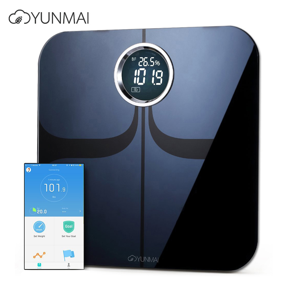 YUNMAI Premium M1301 Smart Body Fat Scale Bluetooth 4.0 APP Control Body Composition Monitor 4.0 Inches Concealed LED Screen mcs marlboro classics повседневные брюки