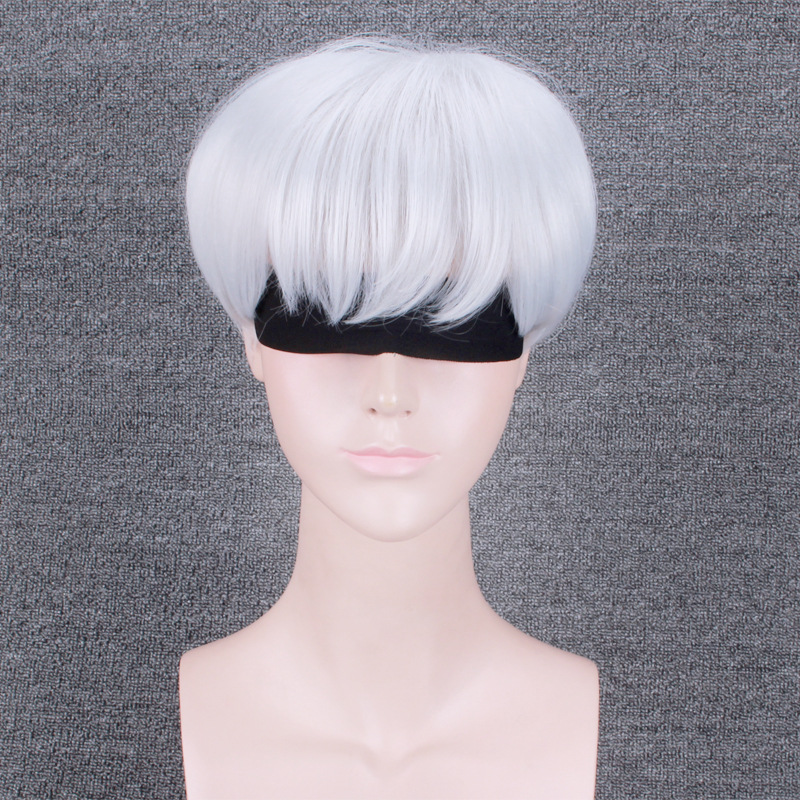30cm Short Wavy Silver White Party Basic Anime Hair Cosplay Wig Heat Resistant+wig Cap Reliable Performance