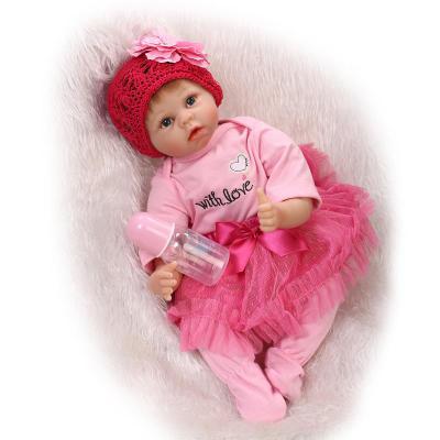 55CM 22 ίντσες πλήρη σιλικόνης ξαναγεννιέται κορίτσια κούκλα μωρών Brinquedos Χειροποίητα σιλικόνης ολοκαίνουργια κούκλες Bebe Bonecas Παιδικά Δώρα