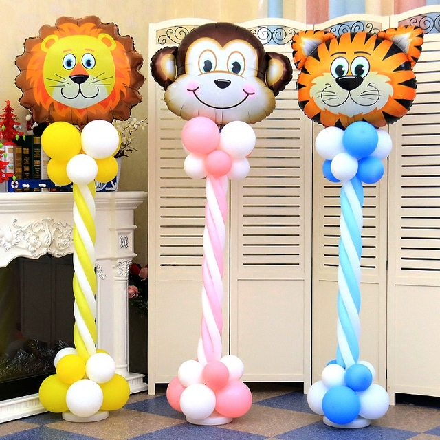 Animal Foil Balloons Cartoon Balloon Column Base Birthday Party