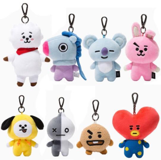 Брелок плюшевая игрушка к-поп BTS в ассортименте