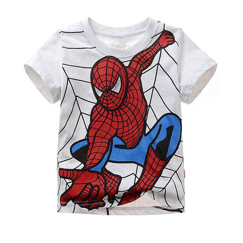 Summer Boy T Shirt Popular Hero Cotton Short Sleeve T-shirt Print Children's Cartoon Kids Boys Child's Clothes