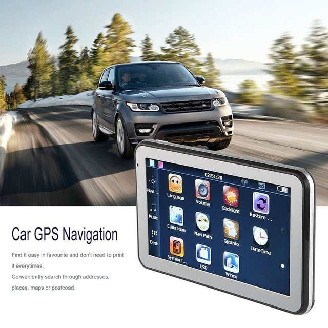 "5"" 886 HD Car Truck GPS Navigation 256M+8GB Reversing Camera Touchscreen FM Navigator Accurately Position Black"