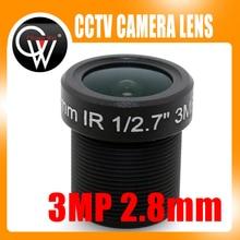 2.8mm HD 3.0Megapixel 1/2.7″ M12 CCTV Camera Lens IR HD Security Camera Lens Fixed Iris fit hd ip camera
