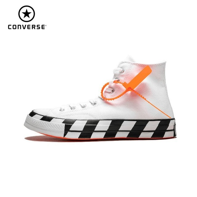 Converse Chuck 70 x Off White 2.0 ow Unsexy Skateboarding Shoes New Arrival High Top Casual Shoes # 163862C