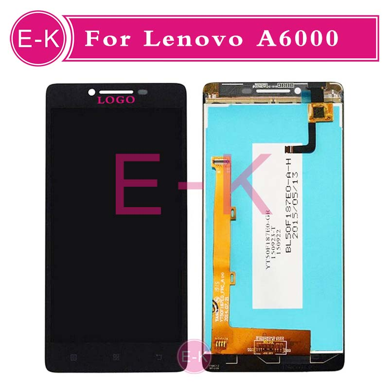 DHL EMS 20pcs/lot High quality 5.0 For Lenovo A6000 LCD Display + Touch Screen Digitizer Assembly Replacement Free Shipping 20pcs lot dhl ems high quality 5 0 for
