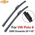 Qeepei wiper blade para vw polo 6 2009 avante 24 ''+ 16'' iso9000 de alta qualidade borracha natural limpo brisa dianteiro cpc201-4