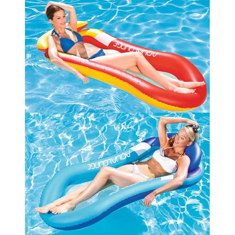 Flotteur de piscine bateau gonflable flotteur de natation adulte matelas d'air anneau été jouet d'eau avec pompe