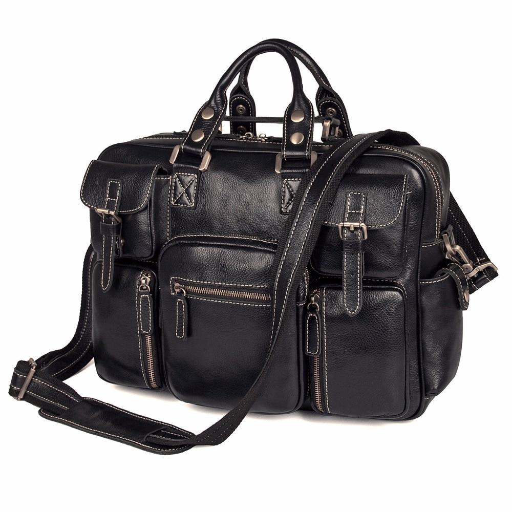 J.M.D J.M.D Imported Top Layer Cow Leather Handbag High Quality Laptop Bag For Office business Laptop Bag 7028A-1