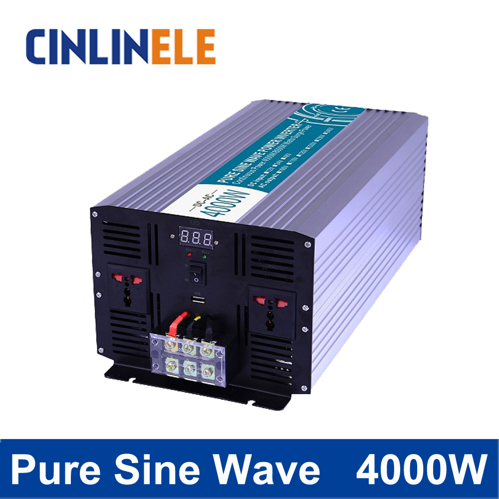 Pure Sine Wave Inverter 4000W CLP4000A DC 12V 24V 48V to AC 110V 220V 4000W Surge Power 8000W pure sine wave inverter 5000w clp5000a dc 12v 24v 48v to ac 110v 220v 5000w surge power 10000w