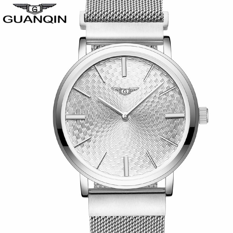 2017 Mens Watches Top Brand Luxury  Ultra Thin Stainless Steel Mesh Band Quartz Watch Men  Clock relogio masculino mcykcy fashion top luxury brand watches men quartz watch stainless steel strap ultra thin clock relogio masculino 2017 drop 20