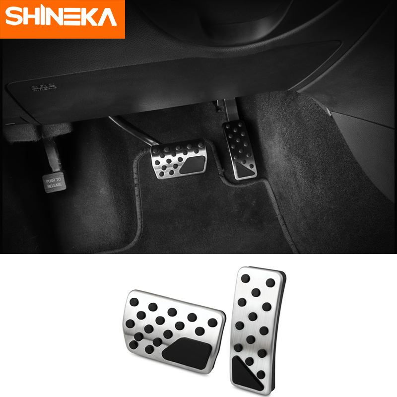 Auto Foot Pedal Pads Pedal Accelerator Brake Pad Trim Cover for Jeep Wrangler JL 2018 Silver 2pcs//Set Stainless Steel Foot Pedal Set kit