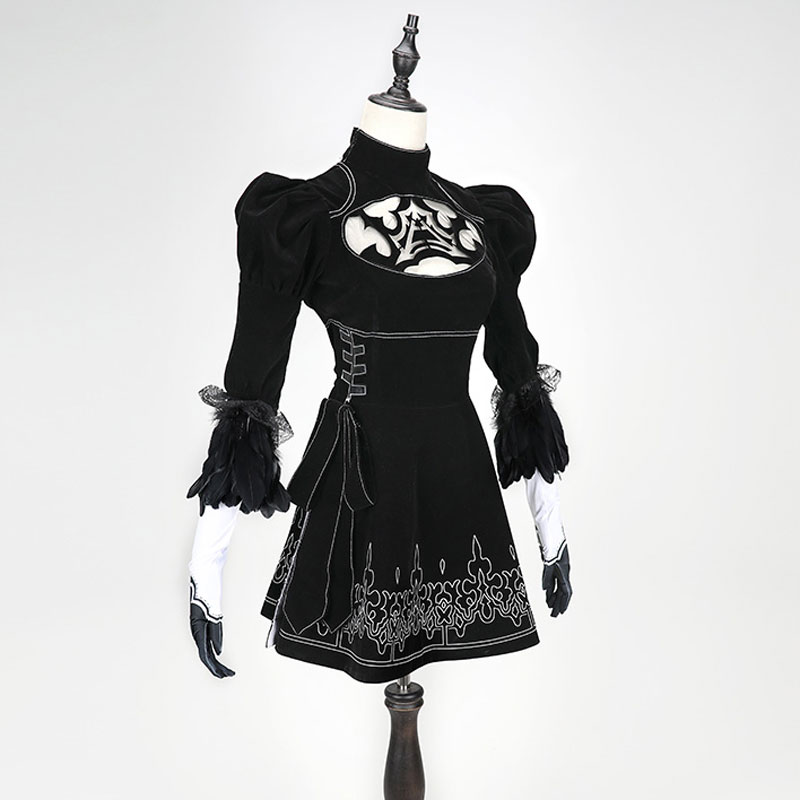 2017 New Game Cosplay Nier Automata 2B YoRHa No. 2 Model B Neal era actress Costume Dresses Full Set In Stock