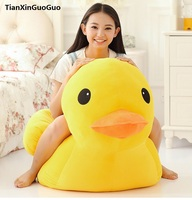 stuffed fillings plush toy huge 95cm yellow duck plush toy soft doll hugging pillow birthday gift s0893