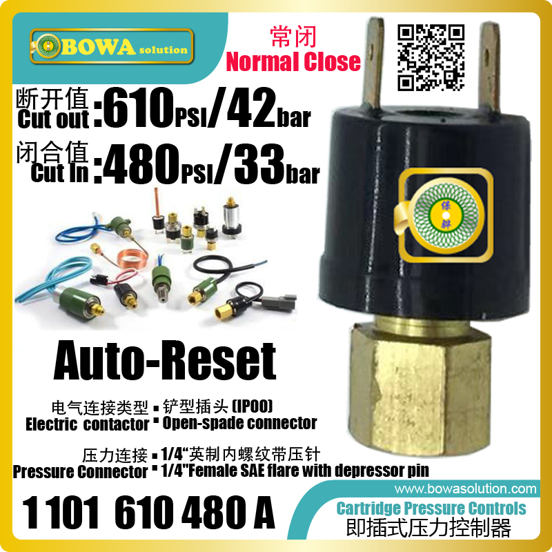 small size, lightness and high degree of protection cartridge pressure control is great choice for R410a unit pressure protectorsmall size, lightness and high degree of protection cartridge pressure control is great choice for R410a unit pressure protector