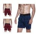 Новая Мода Хлопка Пижамы, Шорты Мужчины Короткие Штаны Шорты Пижамы Домой Короткие Износ Сна Летний Стиль Красный Синий Двухцветный