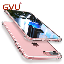 GVU Ultra Thin Soft Transparent TPU Case For Apple iPhone X 8 7 Plus Silicone Case Cover For iPhone 6 6s 7 Plus Phone Bag Case