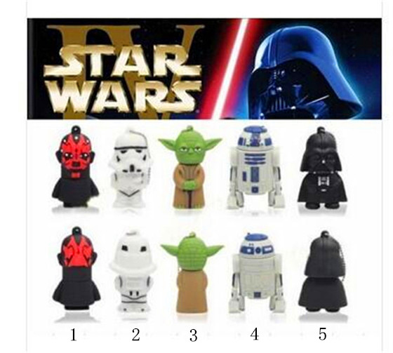 Star Wars Darth Maul/Vader/Robot/Yoda USB Flash Drive 4gb 8gb 16gb 32gb 64gb Memory Stick Thumb/Pendrive key U Disk Gift