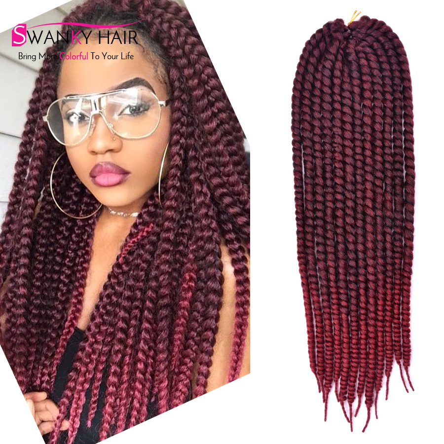 """box studio Picture - More Detailed Picture about 22"""" Ombre Burgundy 2x mambo twist crochet ..."""