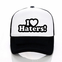I LOVE MY HATERS Funny sexy Hip Hop cool cap Unisex sports baseball hat summer Casual mesh trucker