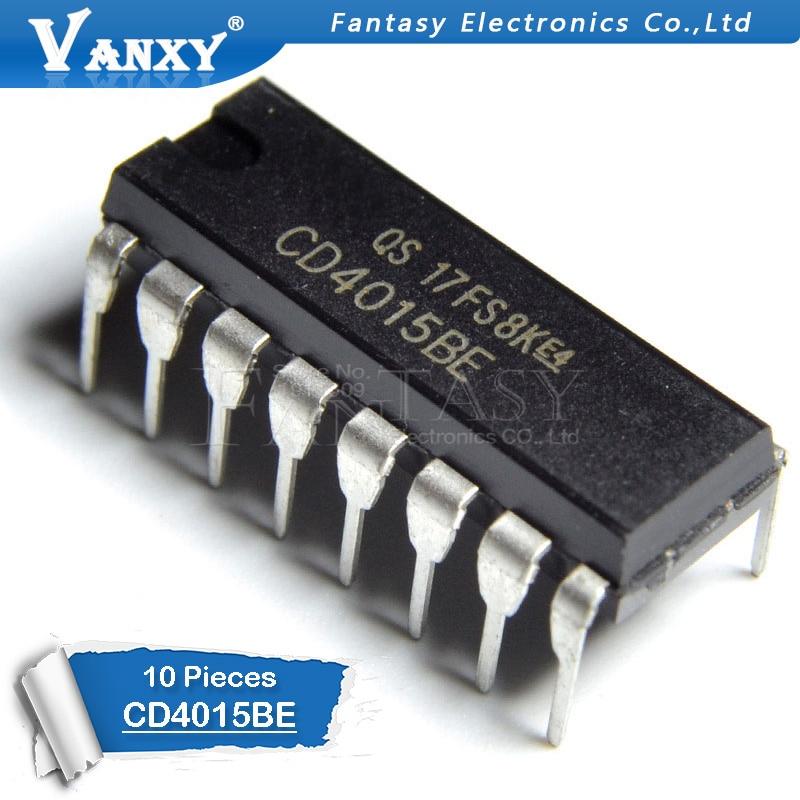 10PCS CD4015BE DIP16 CD4015 DIP 4015BE DIP-16 New And  Original IC